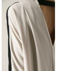 Nude   Black Contrasted Beige Back Dress   Lyst