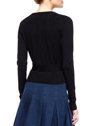 Diane von Furstenberg Black Ballerina Wrap Sweater