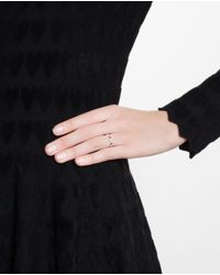 Yvonne Léon | Metallic 18Kt Gold Ring With Antique Diamonds And Sapphires | Lyst
