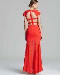 BCBGMAXAZRIA Red Bcbg Max Azria Gown Ava Cutout