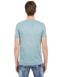 DSquared² - Blue Handcuff Printed Cotton Linen T-Shirt for Men - Lyst