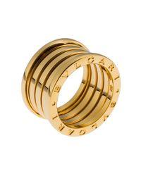 BVLGARI | Metallic Women's B.zero1 18k Yellow Gold 5-band Ring Size 6.5 | Lyst