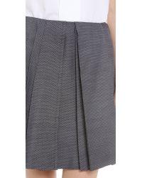 Viktor & Rolf - Gray Pleated Skirt - Blue/White - Lyst