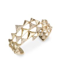 House of Harlow 1960 | Metallic Pyramid Openwork Bracelet | Lyst