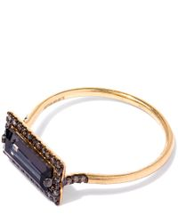 Suzanne Kalan - Metallic Gold Baguette Quartz Diamond Ring - Lyst
