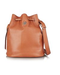 Tory Burch Brown Brody Textured-leather Bucket Bag