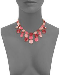 Kate Spade | Pink Smell The Roses Statement Necklace | Lyst