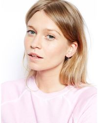 ASOS - Metallic Sterling Silver 14Mm Hoop Earrings - Lyst