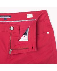 Tommy Hilfiger | Red Straight Fit Trousers | Lyst