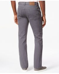 Tommy Hilfiger | Gray Garment-dyed Straight-leg Jeans for Men | Lyst