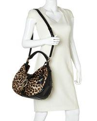 Diane von Furstenberg - Black Leopard Sutra Hobo - Lyst