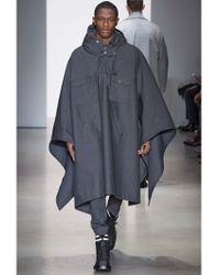 Calvin Klein Gray 17.5cm Bonded Wool Pants for men