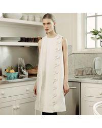 Trademark   White Scallop Shift Dress   Lyst