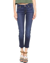 7 For All Mankind Kimmie Crop Jeans Rich Authentic Blue