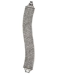Lauren by Ralph Lauren | Metallic Pavé Mesh Bracelet | Lyst