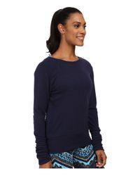 Alo Yoga - Blue Flux Long Sleeve Top - Lyst