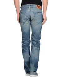 Pink Pony - Blue Denim Trousers for Men - Lyst