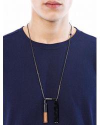 Lanvin | Metallic Double Bulletshell Necklace for Men | Lyst