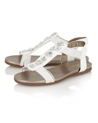 Lotus - White Myrtill Open Toe Sandals - Lyst