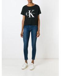 Calvin Klein Jeans Black Classic Logo Print T-shirt