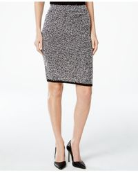 Calvin Klein | Black Textured Sweater Skirt | Lyst