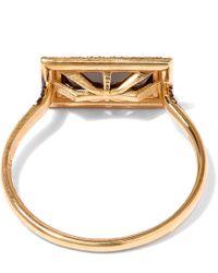 Suzanne Kalan | Metallic Gold Baguette Quartz Diamond Ring | Lyst