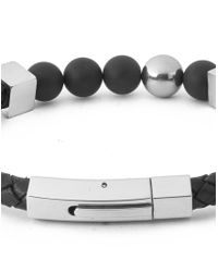 Vitaly - Perlen X Stainless Steel Magnetic Bracelet - Black for Men - Lyst