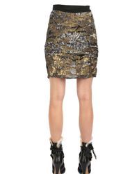 Isabel Marant Metallic Sequined Silk Crepe De Chine Skirt