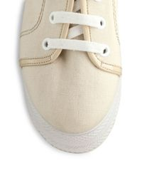 Opening Ceremony - Natural Canvas Patent Laceup Platform Sneakers - Lyst