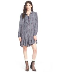 Free People Multicolor Button Front Shirtdress