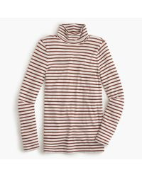 J.Crew | Red Striped Tissue Turtleneck T-shirt | Lyst