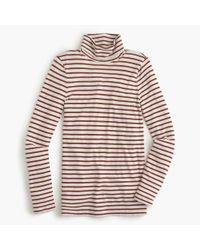 J.Crew | Red Striped Tissue Turtleneck T-shirt | Lyst