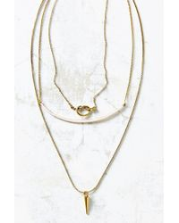 Urban Outfitters - Pink Kia Knotted Layering Necklace - Lyst