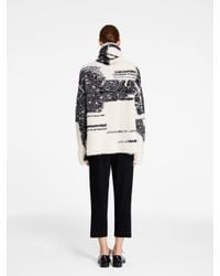 DKNY - White Pure Intarsia Turtleneck Pullover - Lyst