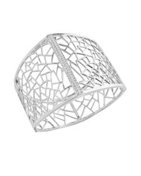 Effy | Metallic Diamond And Sterling Silver Open Cuff | Lyst