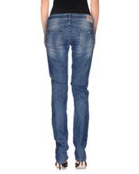 Liu Jo - Blue Denim Trousers - Lyst