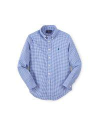 Ralph Lauren | Blue Gingham Cotton Blake Shirt | Lyst