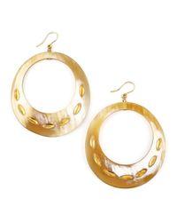 Ashley Pittman - Metallic Zamu Light Horn Earrings - Lyst