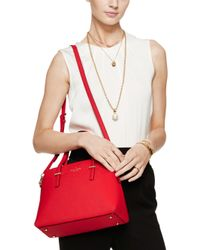 kate spade new york - Red Maise Leather Dome Bag - Lyst