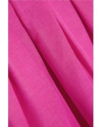 Temperley London Pink Palais Cotton-Blend Taffeta Maxi Skirt