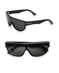 Tom Ford | Black Wagner Oversized Shield Sunglasses for Men | Lyst