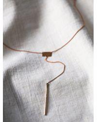 Free People - Metallic Lariat Bar Necklace - Lyst