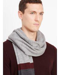 Vince Gray Wool Striped Blanket Scarf for men
