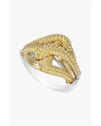 Lagos | Metallic 'torsade' Medium Open Ring | Lyst