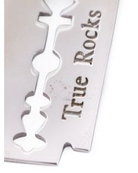 True Rocks | Metallic Razor Blade Necklace | Lyst