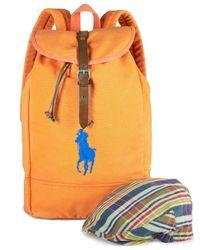 Polo Ralph Lauren | Orange Canvas Backpack for Men | Lyst