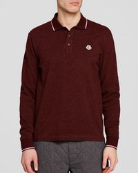 Moncler | Purple Maglia Long Sleeve Polo - Regular Fit for Men | Lyst