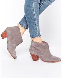 H by Hudson Brown Kivar Grey Suede Ankle Boots - Grey