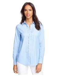 Brooks Brothers | Blue Cotton Tunic | Lyst