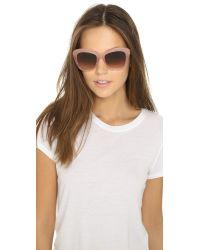 Oliver Peoples - Emmy Sunglasses - Pink Topaz/umber Gradient - Lyst